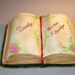 Bible Decorated Cake
