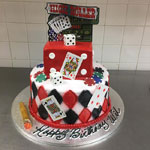 Casino Decorated Cake