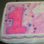 Girls First Birthday Cake