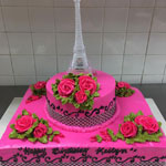 Paris Birthday Cake