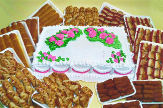 Birthday Special with Cake and Food